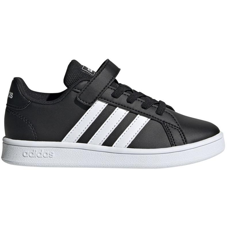 Buty adidas Grand Court C Jr EF0108 białe czarne