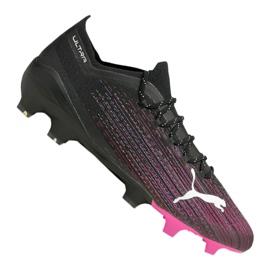 Buty piłkarskie Puma Ultra 1.1 Fg M 106044-03 czarny, czarny, różowy czarne