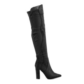Sweet Shoes Wysokie Kozaki W Szpic czarne