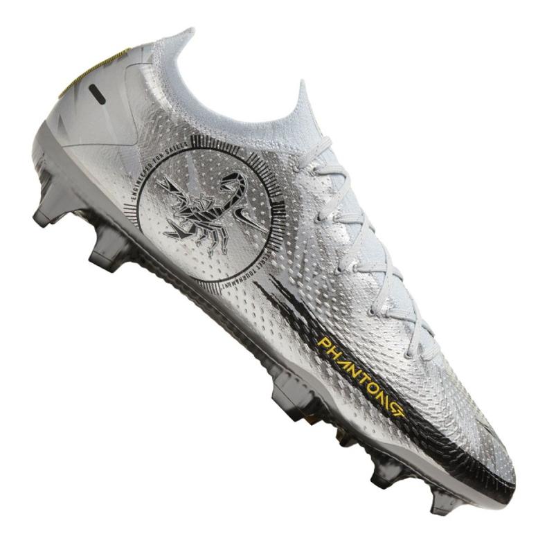 Buty piłkarskie Nike Phantom Gt Elite Se Fg M CT2156-001 srebrny wielokolorowe