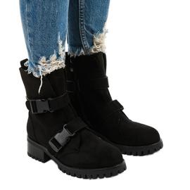 Czarne damskie botki ocieplane Irinrahne