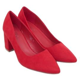 Czółenka na słupku czerwone CC208P Red