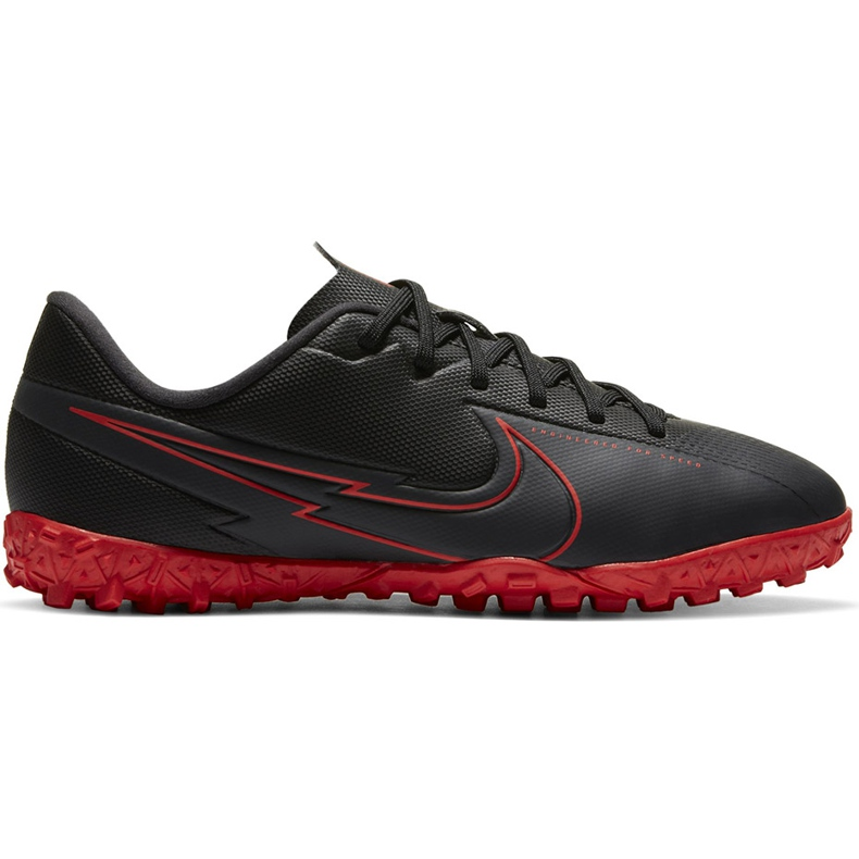 Buty piłkarskie Nike Mercurial Vapor 13 Academy Tf Junior AT8145 060 czarny,czerwony czarne
