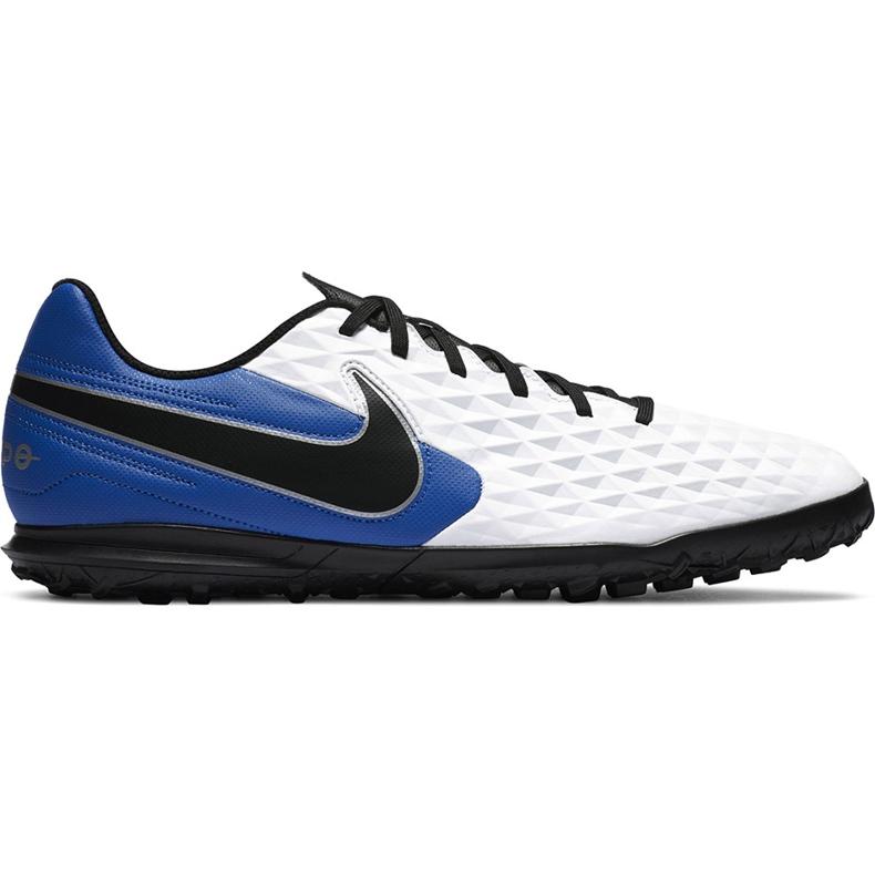 Buty piłkarskie Nike Tiempo Legend 8 Club Tf AT6109 104 biały,niebieski,czarny białe