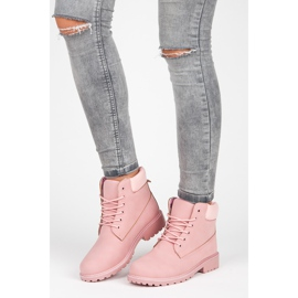 Seastar Różowe traperki damskie 4