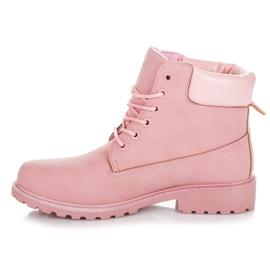 Seastar Różowe traperki damskie 1
