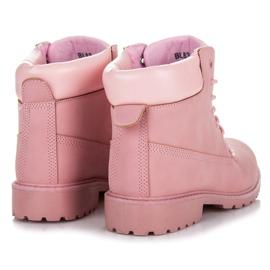 Seastar Różowe traperki damskie 2