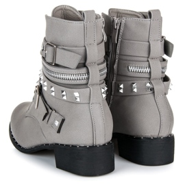 Vices New Collection Rockowe botki workery szare 2