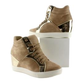 Zamszowe sneakersy AT-0593-L Khaki 3