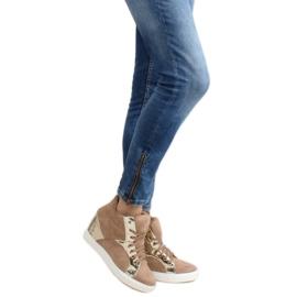 Zamszowe sneakersy AT-0593-L Khaki 5