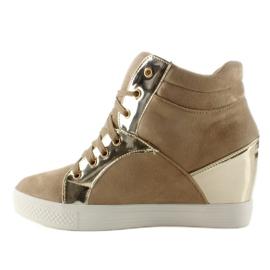 Zamszowe sneakersy AT-0593-L Khaki 1