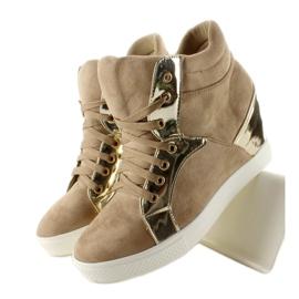 Zamszowe sneakersy AT-0593-L Khaki 2