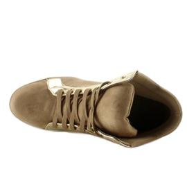 Zamszowe sneakersy AT-0593-L Khaki 4
