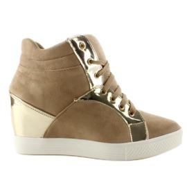 Zamszowe sneakersy AT-0593-L Khaki 6