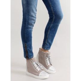 Sneakersy z łańcuszkami R72 Grey3 / Silver szare 5