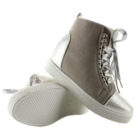 Sneakersy z łańcuszkami R72 Grey3 / Silver szare 2