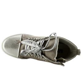 Sneakersy z łańcuszkami R72 Grey3 / Silver szare 4