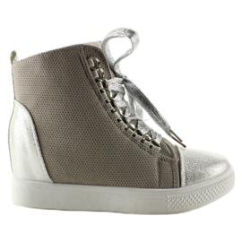Sneakersy z łańcuszkami R72 Grey3 / Silver szare 6
