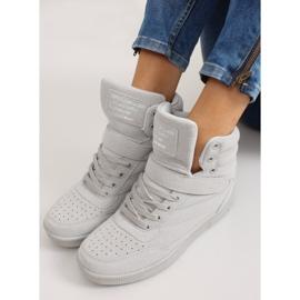 Zamszowe sneakersy Liluu XW33268 Grey Suede szare 6