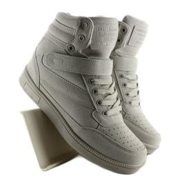Zamszowe sneakersy Liluu XW33268 Grey Suede szare 4