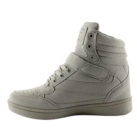 Zamszowe sneakersy Liluu XW33268 Grey Suede szare 1