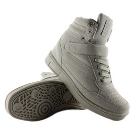 Zamszowe sneakersy Liluu XW33268 Grey Suede szare 2