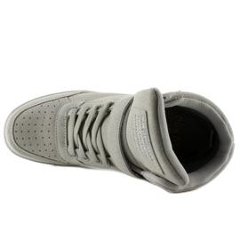 Zamszowe sneakersy Liluu XW33268 Grey Suede szare 3