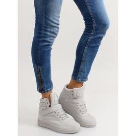 Zamszowe sneakersy Liluu XW33268 Grey Suede szare 5