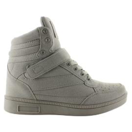 Zamszowe sneakersy Liluu XW33268 Grey Suede szare 7