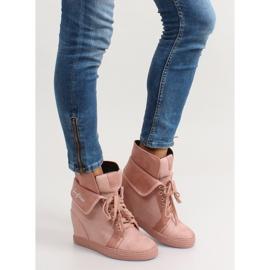 Sneakersy zamszowe B12-22 Pink różowe 6