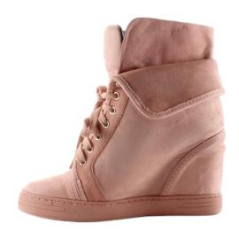 Sneakersy zamszowe B12-22 Pink różowe 1