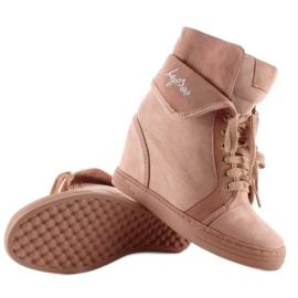Sneakersy zamszowe B12-22 Pink różowe 2