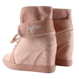 Sneakersy zamszowe B12-22 Pink różowe 5