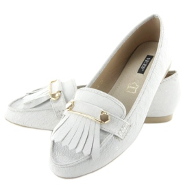 Mokasyny w stylu vintage 3052 White białe 2