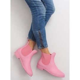 Kalosze damskie D24p pink różowe 1