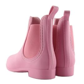 Kalosze damskie D24p pink różowe 4