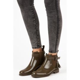 Ideal Shoes Kalosze Z Frędzlami zielone 4