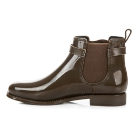 Ideal Shoes Kalosze Z Frędzlami zielone 1