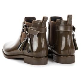 Ideal Shoes Kalosze Z Frędzlami zielone 2