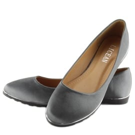 Satynowe balerinki szare A8621 grey 3