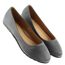 Satynowe balerinki szare A8621 grey 1