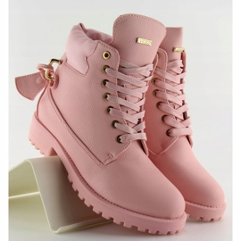 Timberki z kłódką szare 1302 Pink różowe 6
