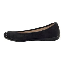 Befado obuwie damskie balerinki kapcie 309q015 czarne 2