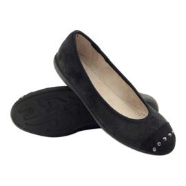 Befado obuwie damskie balerinki kapcie 309q015 czarne 3
