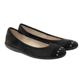 Befado obuwie damskie balerinki kapcie 309q015 czarne 4