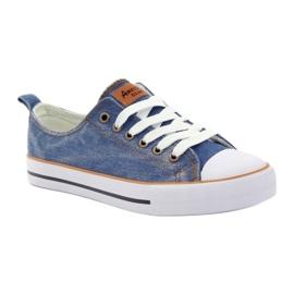 American Club Trampki dk.jeans wiązane niebieskie 1