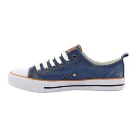 American Club Trampki dk.jeans wiązane niebieskie 2
