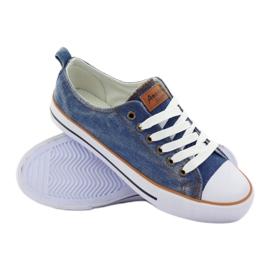 American Club Trampki dk.jeans wiązane niebieskie 3