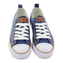 American Club Trampki dk.jeans wiązane niebieskie 4