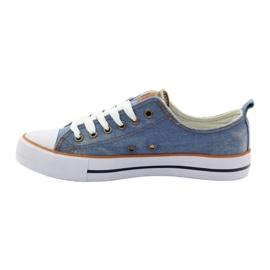 American Club Trampki jeans wiązane niebieskie 2